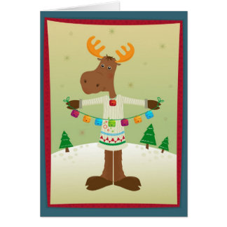 Moose and Bells Card