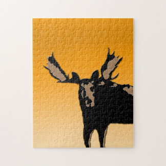 Moose at Sunset Jigsaw Puzzle