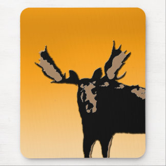 Moose at Sunset Mouse Pad