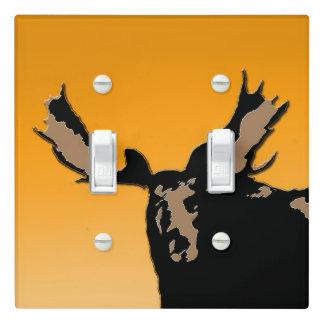 Moose at Sunset  - Original Wildlife Art Light Switch Cover