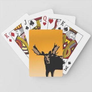 Moose at Sunset  - Original Wildlife Art Playing Cards