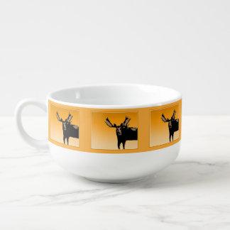 Moose at Sunset  - Original Wildlife Art Soup Mug