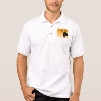 Moose at Sunset Polo Shirt