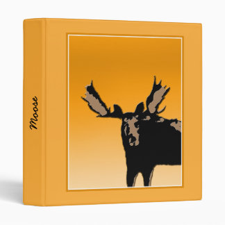 Moose at Sunset Vinyl Binders