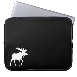 Moose Black Laptop Sleeve 15""