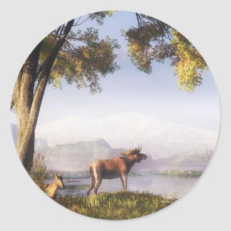 Moose By The Lake sticker