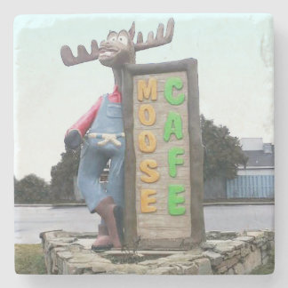 Moose Cafe, Asheville North Carolina, Stone Coaster