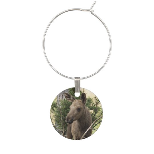 Moose Calf Wine Charm