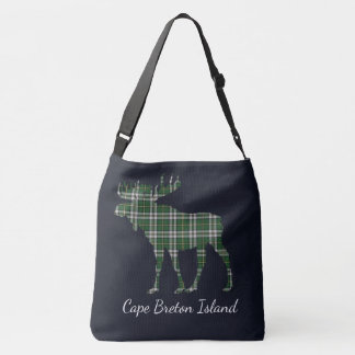 Moose Cape Breton tartan travel shoulder  Bag blue