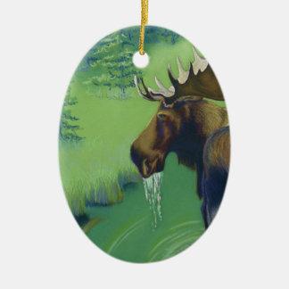 Moose Ceramic Ornament