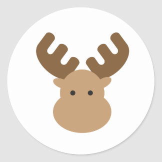 Moose Classic Round Sticker