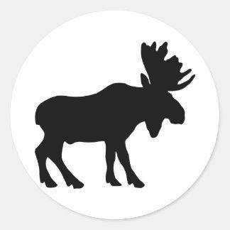 Moose Classic Round Sticker