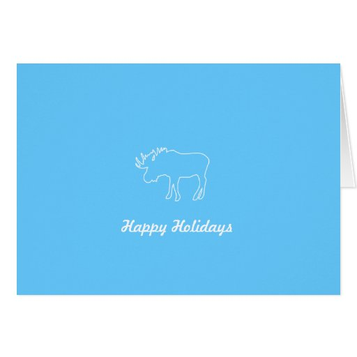 Moose Collection | Happy Holidays Folded Card