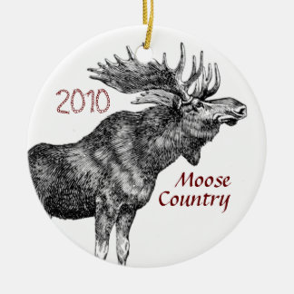 Moose Country Christmas Ornament