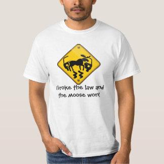 Moose Crossing Sign T-Shirt
