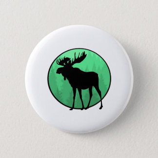 Moose Domain 2 Inch Round Button