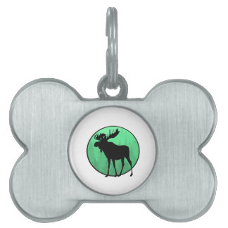 Moose Domain Pet Name Tag