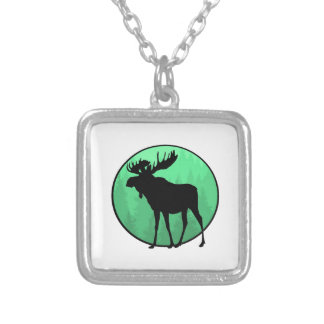 Moose Domain Silver Plated Necklace