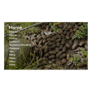 Moose droppings business card templates