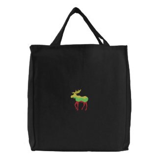 Moose Embroidered Bags