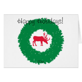 Moose for Christmas | Happy Holiday Moose Card