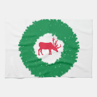 Moose for Christmas | Happy Holiday Moose Kitchen Towel