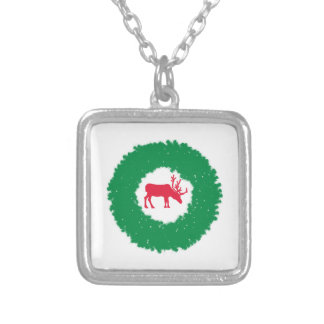 Moose for Christmas | Happy Holiday Moose Silver Plated Necklace
