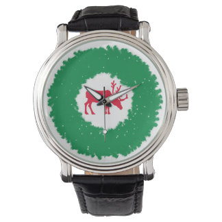 Moose for Christmas | Happy Holiday Moose Wrist Watch