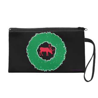 Moose for Christmas | Happy Holiday Moose Wristlet
