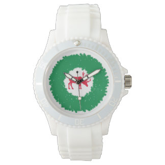 Moose for Christmas | Happy Holiday Moose Wristwatch