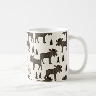 Moose Forest - Dark Brown Cream / Andrea Lauren Coffee Mug
