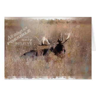 Moose from Tetons Greeting Card