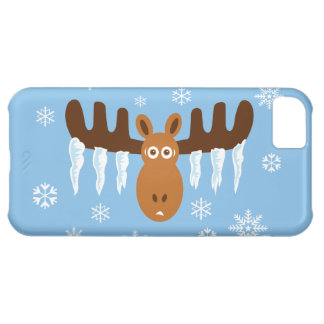 Moose Head_Icicle Antlers_Humorous Holidays Case-Mate iPhone Case