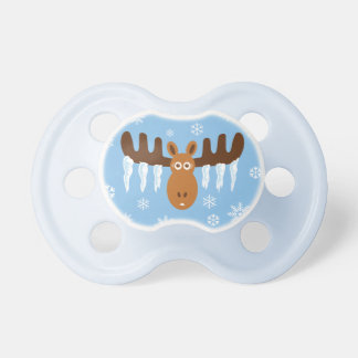 Moose Head_Icicle Antlers_Tis the freezin' season Pacifier