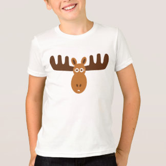 Moose Head_kids blue ringer T-Shirt
