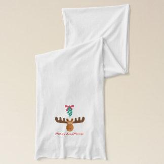 Moose Head_Mistletoe_Merry KissMoose! Scarves