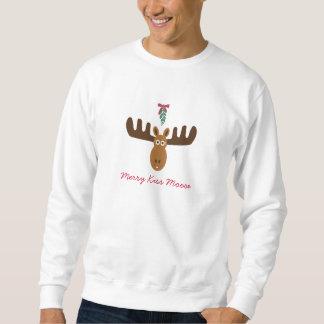 Moose Head_Mooseltoe_Merry Kiss Moose Sweatshirt