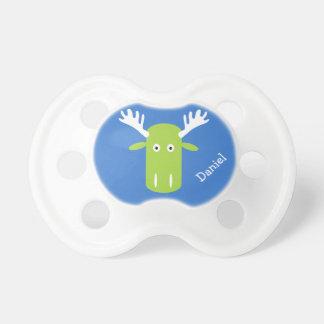 Moose Head Pop Art custom name pacifier