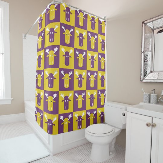 Moose Head Pop Art shower curtain