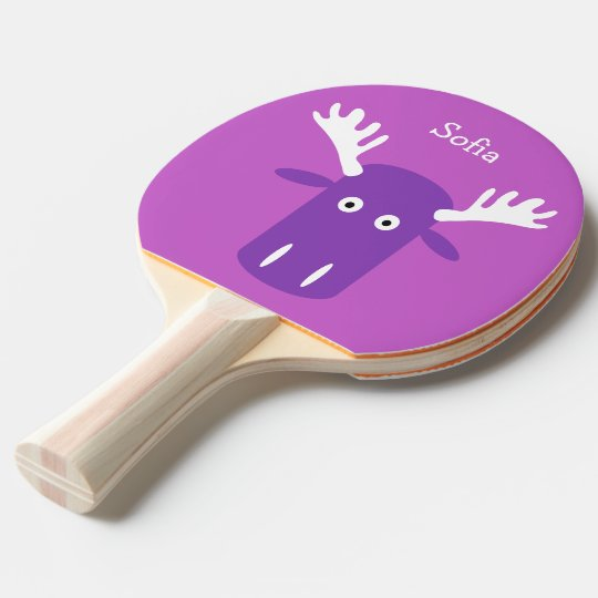 Moose Head PopArt custom monogram ping pong paddle