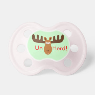 Moose Head_Un Herd! Pacifier