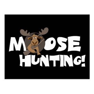 Moose Hunting Postcard
