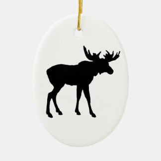Moose Icon Ceramic Oval Ornament