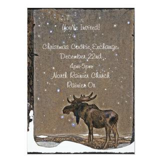 Moose in Snow Card