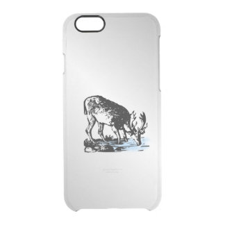 Moose in Stream Clear iPhone 6/6S Case