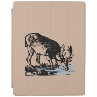 Moose in Stream iPad Cover