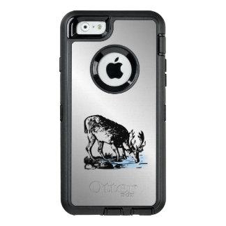 Moose in Stream OtterBox Defender iPhone Case