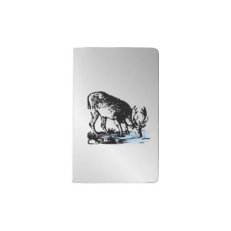 Moose in Stream Pocket Moleskine Notebook