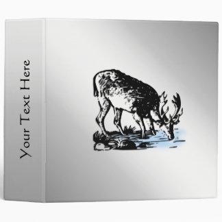 Moose in Stream Vinyl Binders