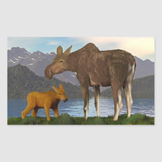 Moose in the Meadow Sticker